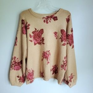 Altar'd State Sonora Floral Cozy Sweater Large